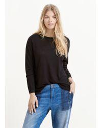 Violeta by Mango | Black Contrast Sleeve Sweater | Lyst