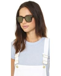 Oliver Peoples Brown Lou Polar Mirrored Sunglasses - Sable Tortoise/G15 Goldtone
