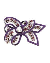 Shourouk   Purple Brooch   Lyst