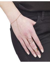 Arme De L'Amour | Pink Chevron Ring With Bracelet | Lyst