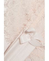 Mimi Holliday by Damaris - Pink Oyster Whippy Lace And Stretch-Silk Satin Lingerie Set - Lyst
