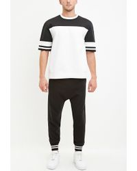 Forever 21 | Black Stripe-trimmed Joggers for Men | Lyst