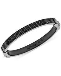 Michael Kors | Black Pave Hinge Bracelet | Lyst