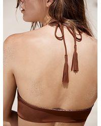 Free People - Brown Acacia Womens Panama Bikini Top - Lyst