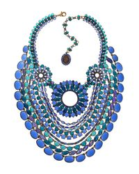 Miranda Konstantinidou Chez Carré Y. | Blue Mosaic Necklace | Lyst