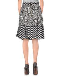 Marco Bologna - Black Knee Length Skirt - Lyst