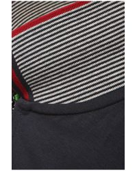 BOSS Green - Blue 'philix'   Modern Fit, Stretch Cotton Zip Polo for Men - Lyst
