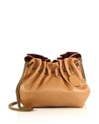 Stella McCartney | Brown Noma Small Faux Leather Bucket Bag | Lyst