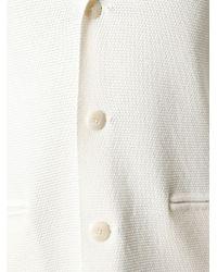 Façonnable - White Textured Knit Blazer for Men - Lyst
