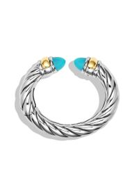 David Yurman - Blue Waverly Bracelet with Turquoise and Gold - Lyst