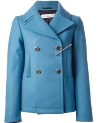 Golden Goose Deluxe Brand - Blue 'Jason' Peacoat With Brooch - Lyst