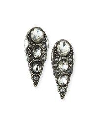 Lulu Frost | Metallic Jabrosa Rhinestone Stud Earrings | Lyst