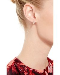 Joelle Jewellery   18K Pink Gold Antique Mini Hoop Earrings   Lyst