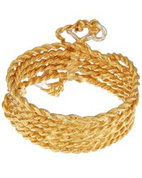 Alex Monroe Metallic Gold-plated Twisted Anchor Ring