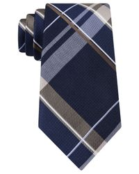 Michael Kors | Blue Michael Weekender Plaid Tie for Men | Lyst