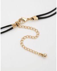 ASOS Black Multirow Eye & Feather Choker Necklaces