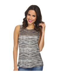 NIC+ZOE - Multicolor Scattered Lines Top - Lyst