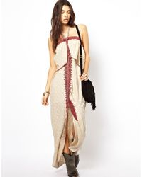 Free People - White Maxi Dress in Floral Jacquard - Lyst