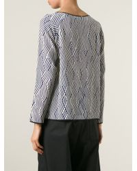 Forte Forte - Blue Graphic Print Blouse - Lyst