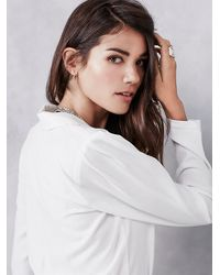 Free People | White Pine Jumper | Lyst