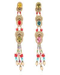 Dori Csengeri Metallic Baroque Earrings