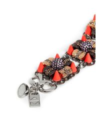 Assad Mounser - Multicolor Neon Spike Crystal Bracelet - Lyst