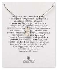 "Dogeared - Metallic I Am Grateful Necklace, 36"" - Lyst"