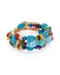 Cara Multicolor Beaded Coil Bracelet