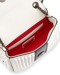Christian Louboutin - White Sweety Charity Calfskin Cross-Body Bag - Lyst