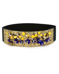 Marni Black Embellished Belt