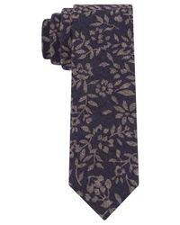 Calvin Klein | Blue Batik Floral Skinny Tie for Men | Lyst