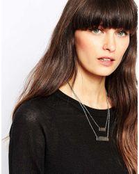 SELECTED | Metallic Kira Double Bar Necklace | Lyst