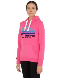 Superdry Pink Vintage Logo Hooded Sweatshirt