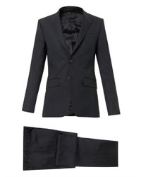 Givenchy Black Madonna-Lapel Wool-Blend Suit for men