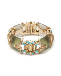 Alexis Bittar | Green Phoenix Deco Open Work Hinged Bracelet | Lyst