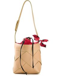 Moschino | Natural Small Woven Tote | Lyst