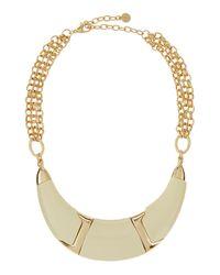 R.j. Graziano - Metallic Half-moon Collar Necklace - Lyst
