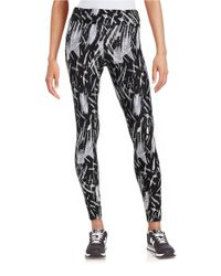 Marc New York White Patterned Knit Leggings