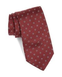 Eton of Sweden Purple Dot Silk Tie for men