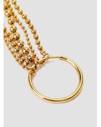 Alice Eden - Metallic Ball Chain Hoop Earrings Brass 14k Gold Filled. - Lyst