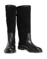 Casadei Black Suede And Leather Boots