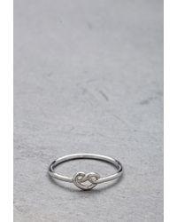 Forever 21 | Metallic Flash Trash Girl Infinity Knot Midi Ring | Lyst