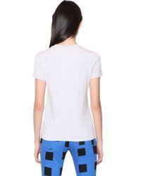 KENZO Gray Tiger Printed Cotton Tshirt