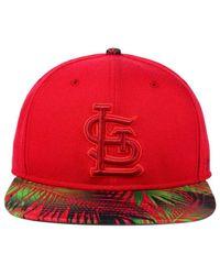 uk availability a2a9f d9771 47 Brand. Men s Red St. Louis Cardinals Tonal Flagler Snapback Cap