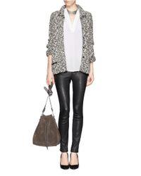 Armani - Gray Mélange Woven Jacket - Lyst