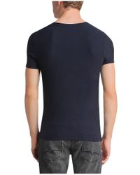 BOSS Orange - Blue Cotton T-shirt: 'tomley' for Men - Lyst