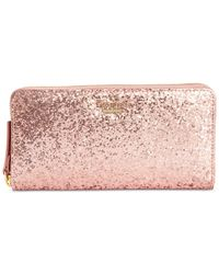 kate spade new york Metallic Glitter Bug Patent Wallet