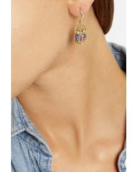 Aurelie Bidermann - Metallic 18-karat Gold Multi-stone Beetle Earrings - Lyst