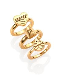 Tory Burch | Metallic Adeline Stackable Ring Set | Lyst