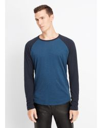 Vince | Black Refined Slub Cotton Baseball Tee for Men | Lyst